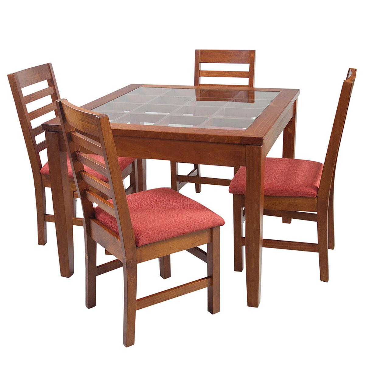 Set Comedor 4 Sillas + Mesa de Centro