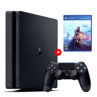 PS4 Sony 500GB Reacondicionada Americana + 1 Mando Inalámbrico DualShock + Juego PS4 EA Battlefield V