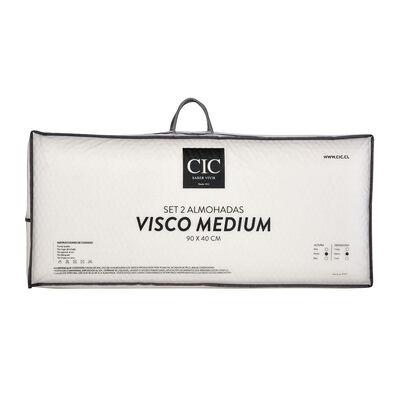 Pack 2 Almohadas CIC Visco Medium King 90 X 40 cm