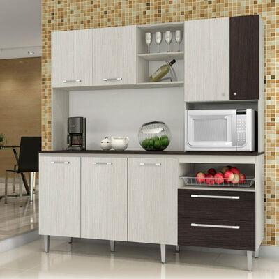 Mueble de cocina Roch 7 puertas 2 cajones M-1009T + frutero