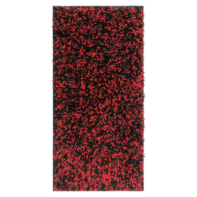 Alfombra Shaggy Bicolor 50 X 100 Cm Red Black