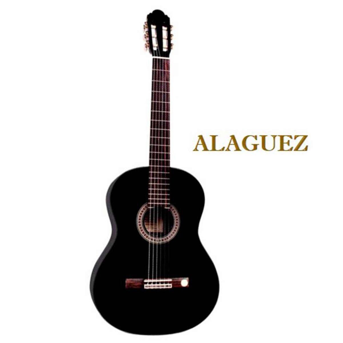Guitarra Clásica Negra 39P Alaguez AZ-39B