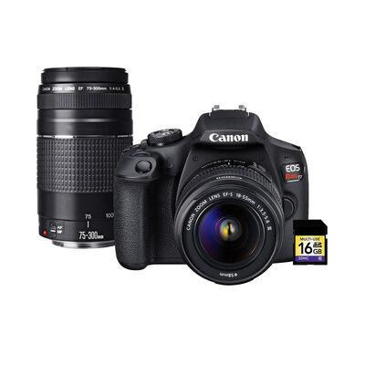 Cámara Réflex Canon EOS Rebel T7 + Lente 75-300mm