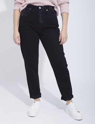 Jeans Slim Mom  Mujer Icono
