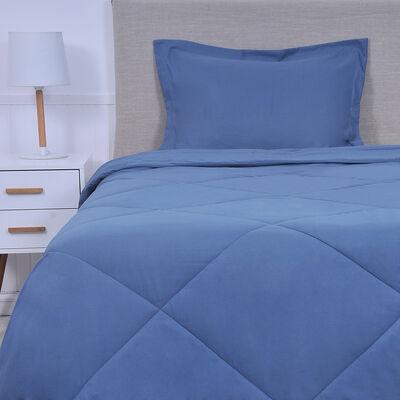 Plumón Mashini Microfibra King Liso Azul