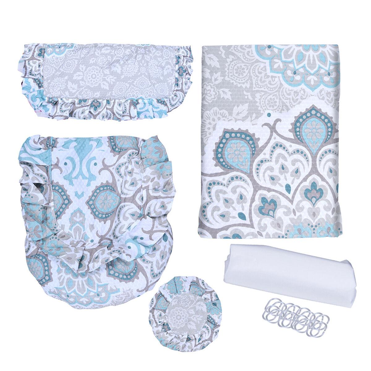 Set 6 Piezas Set Textil de Baño Mashini Retro Multicolor