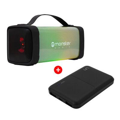 Parlante Bluetooth Monster Audio BT530BK + Batería Externa Philco 79PBK5KBLK 5.000 mAh Negra