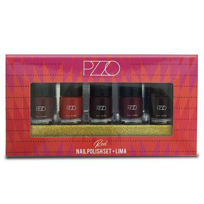 Set Esmaltes Nail Polish Set + Lima Red Petrizzio N20