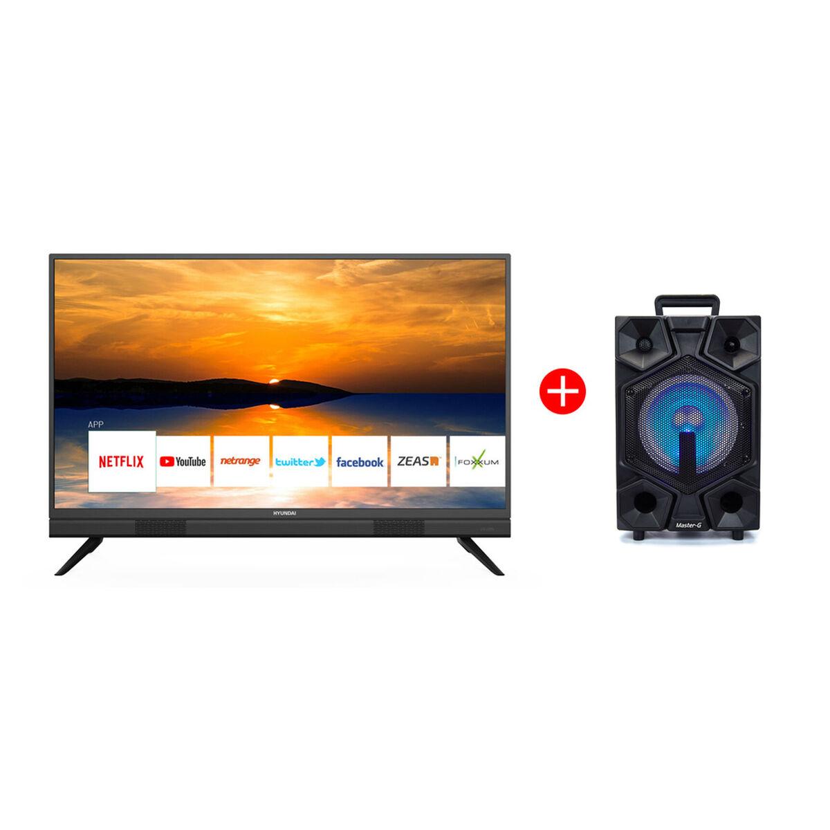 "Combo LED 40"" Hyundai HY40FSB20 Smart TV Full HD + Minicomponente Master-G SPB8B 8"""