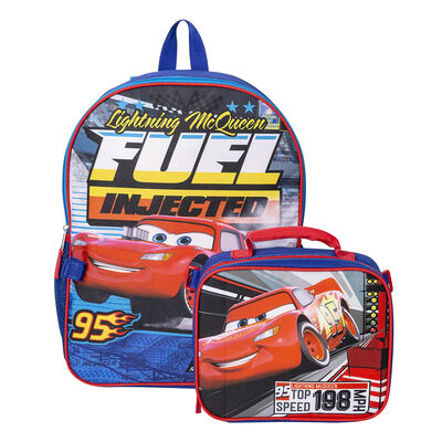 Pack Mochila + Lonchera Escolar Cars