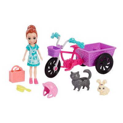 Polly Pocket Bicicleta Con Mascota