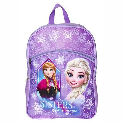"Mochila Escolar Frozen Lila 16"""
