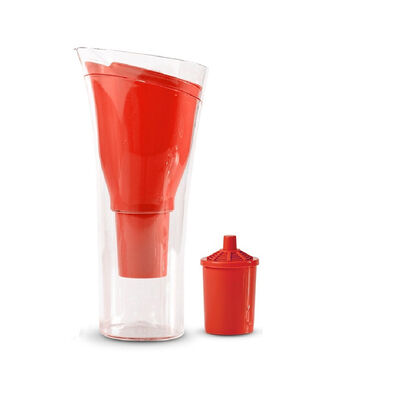 Jarro Purificador de Agua + 1 Repuesto de Filtro Dvigi Rojo