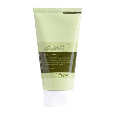 Limpiador Facial Tea Tree White Scrub Cleanser Dermal