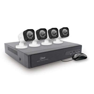 Kit 4 Cámaras de Seguridad MLab AHD-DVR Security System