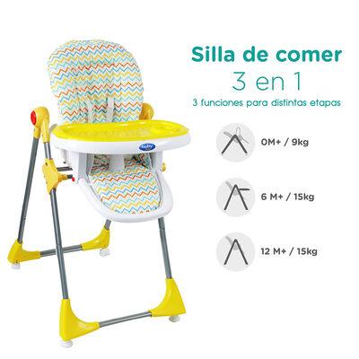 Silla de Comer BW-814Y18 Amarilla