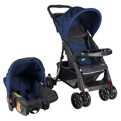 Coche Travel System Spine Azul