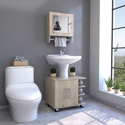 Botiquín + Optimizador Lavamanos TuHome Bath 300