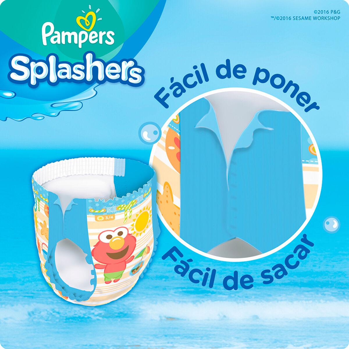 Pañales para piscina PAMPERS Splashers Talla XG. 22unids