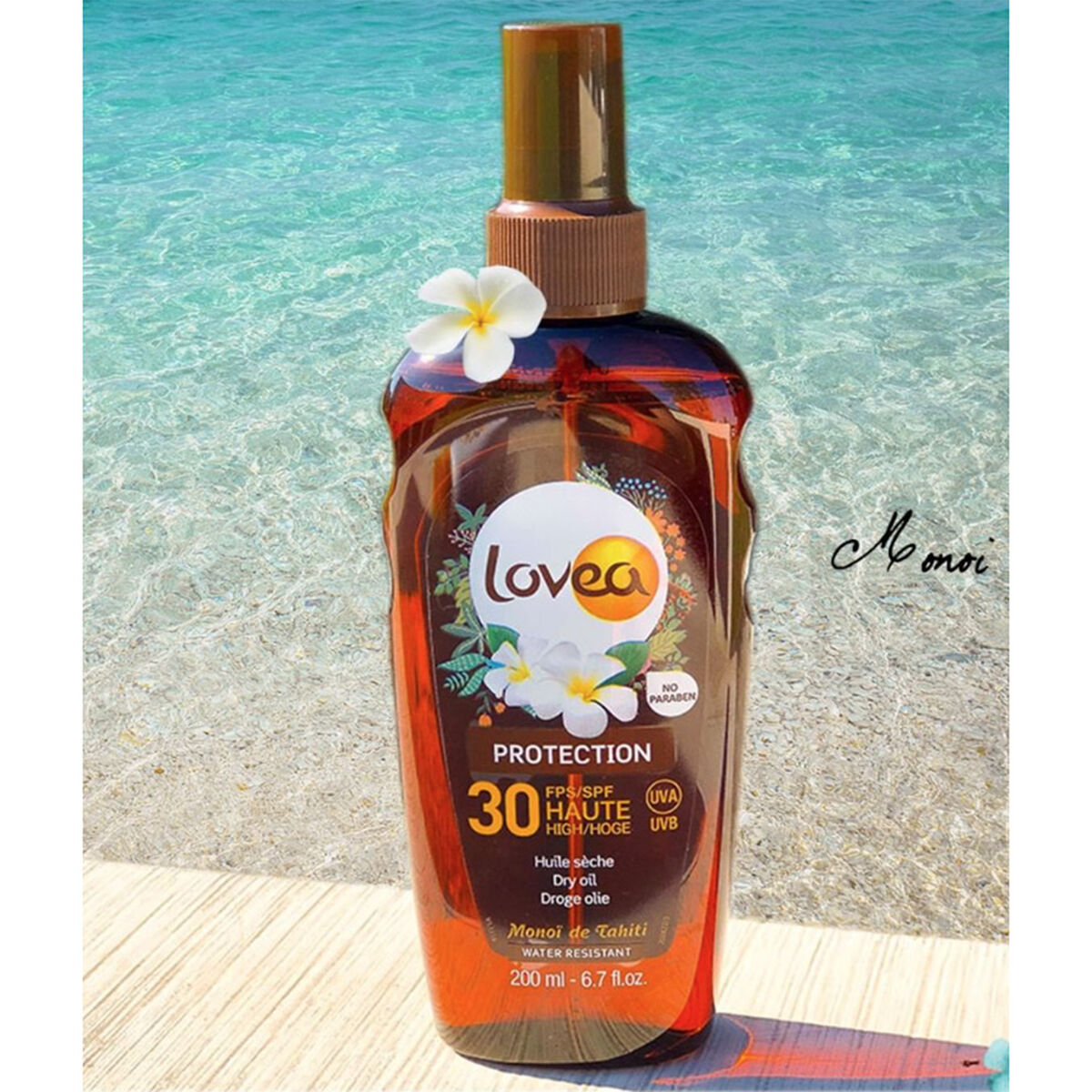 Spray Aceite Seco Alta Protección Monoï de Tahiti - SPF 30 - 200 ml