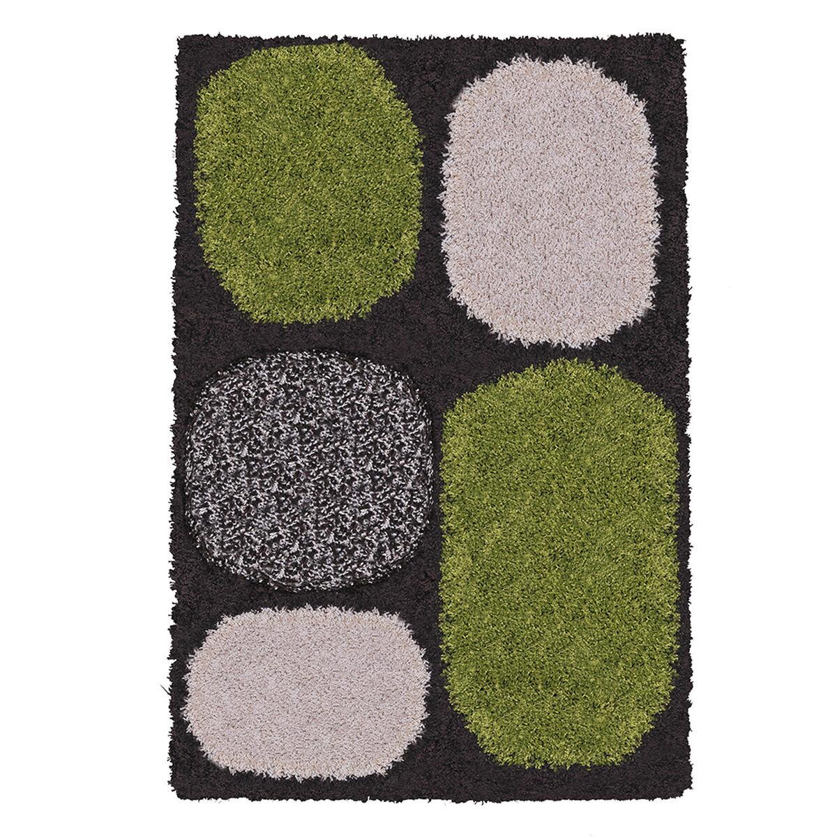 Alfombra Shaggy Roma Piedras Verde 50X90 Cm