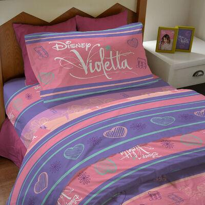 Sábana Violetta Pop Star 1,5 Plazas