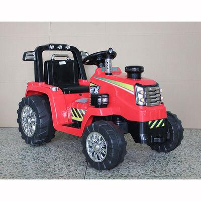 Auto Eléctrico Tractor Rojo