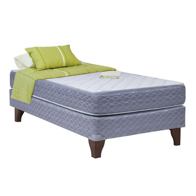Cama Europea New Atlantis 1 Plaza + Textil