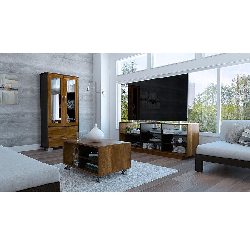 """Rack Tv 58"""" + Vitrina + Mesa De Centro Classic Color"""