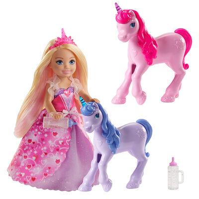 Barbie Chelsea y Unicornios