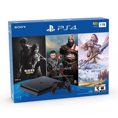 Bundle PS4 1TB + Control inalámbrico dualshock + 3 Juegos The Last of Us: Remastered, God of War y Horizon Zero Dawn