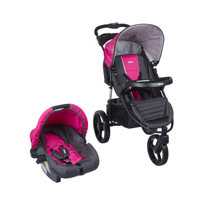 Coche Travel System Tizzy Race Pink