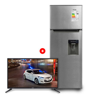 "Refrigerador Frío Directo Hyundai MRF220D 213 lt + LED 32"" Hyundai RP32HY19 HD"