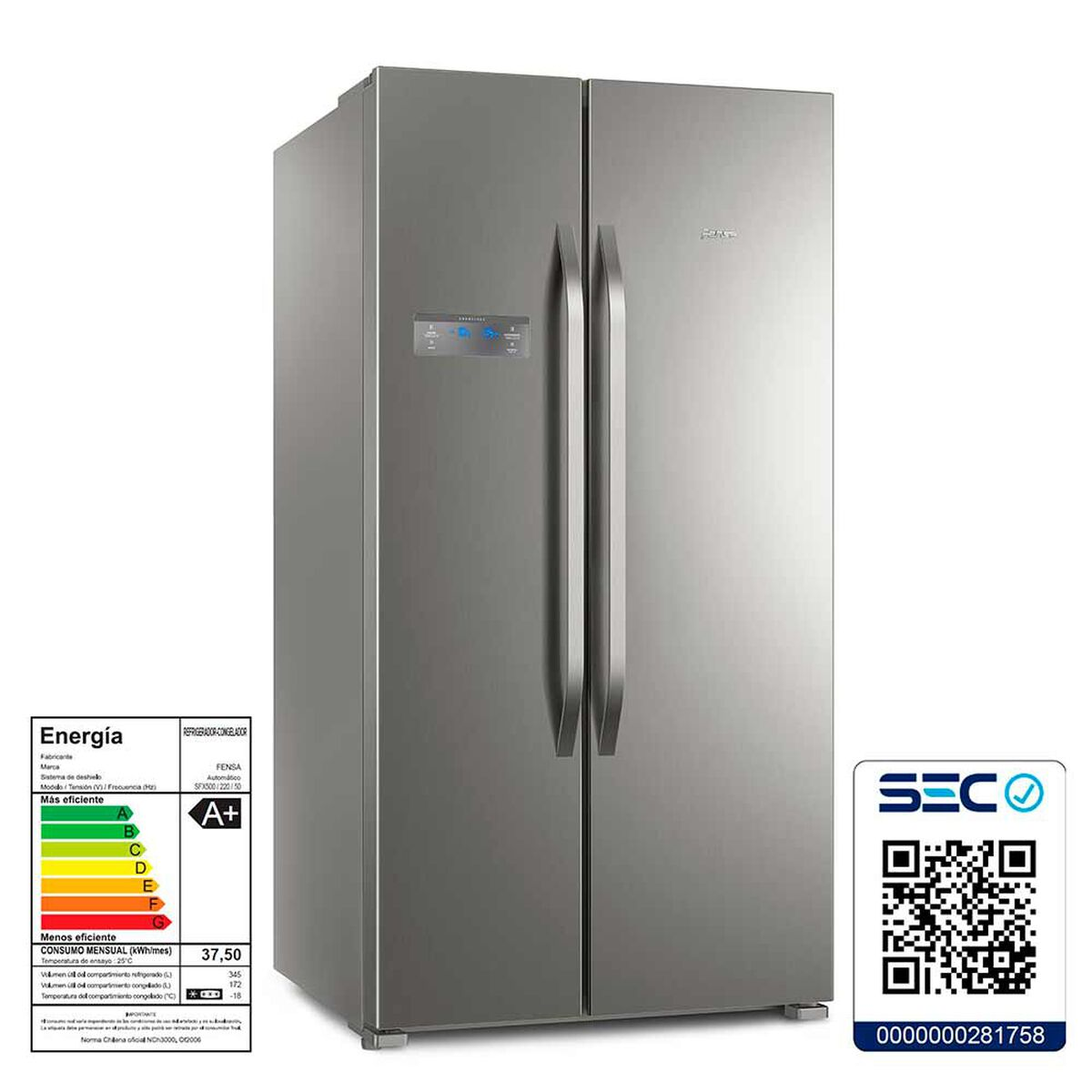 Refrigerador Side by Side Fensa SFX500 517 lt