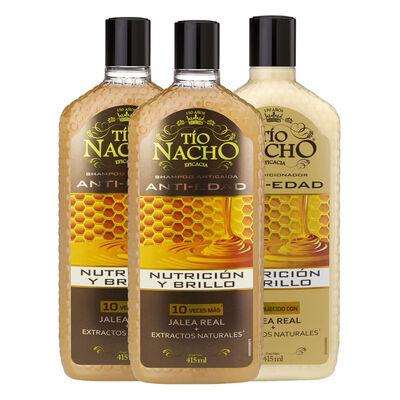 Pack Tío Nacho Jalea Real 2 Shampoo + 1 Acondicionador