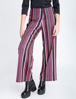 Pantalón Mujer Zibel Palazzo Líneas