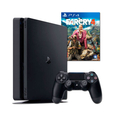 PS4 Sony 500GB + 1 Mando Inalámbrico DualShock + Uncharted: The Nathan Drake Collection + Far Cry 4