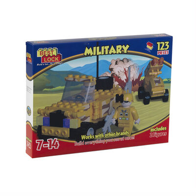 Bloques De Construcción Best-Lock Militar 123 Piezas