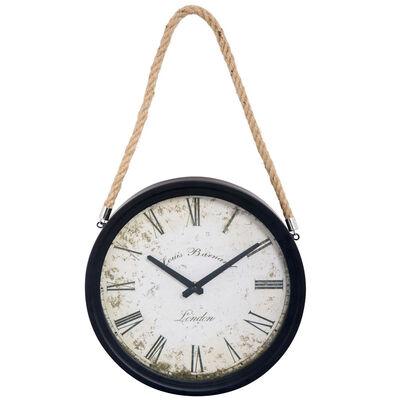 Reloj Metal De Pared Con Soga