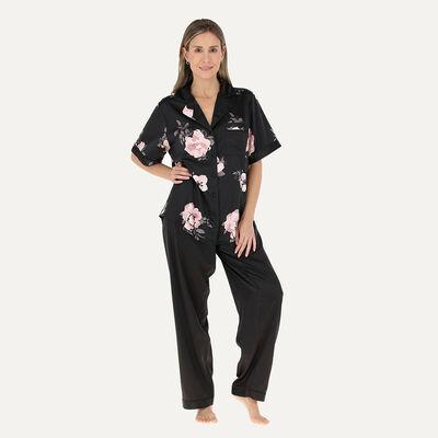 Pijama Manga Corta Mujer Flores