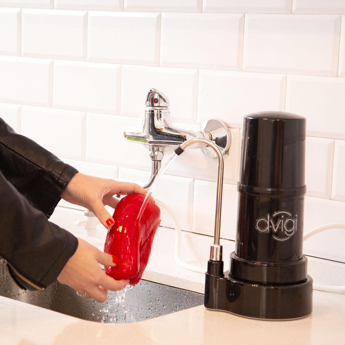 Purificador de Agua Dvigi Filtro Sobre Cubierta Negro