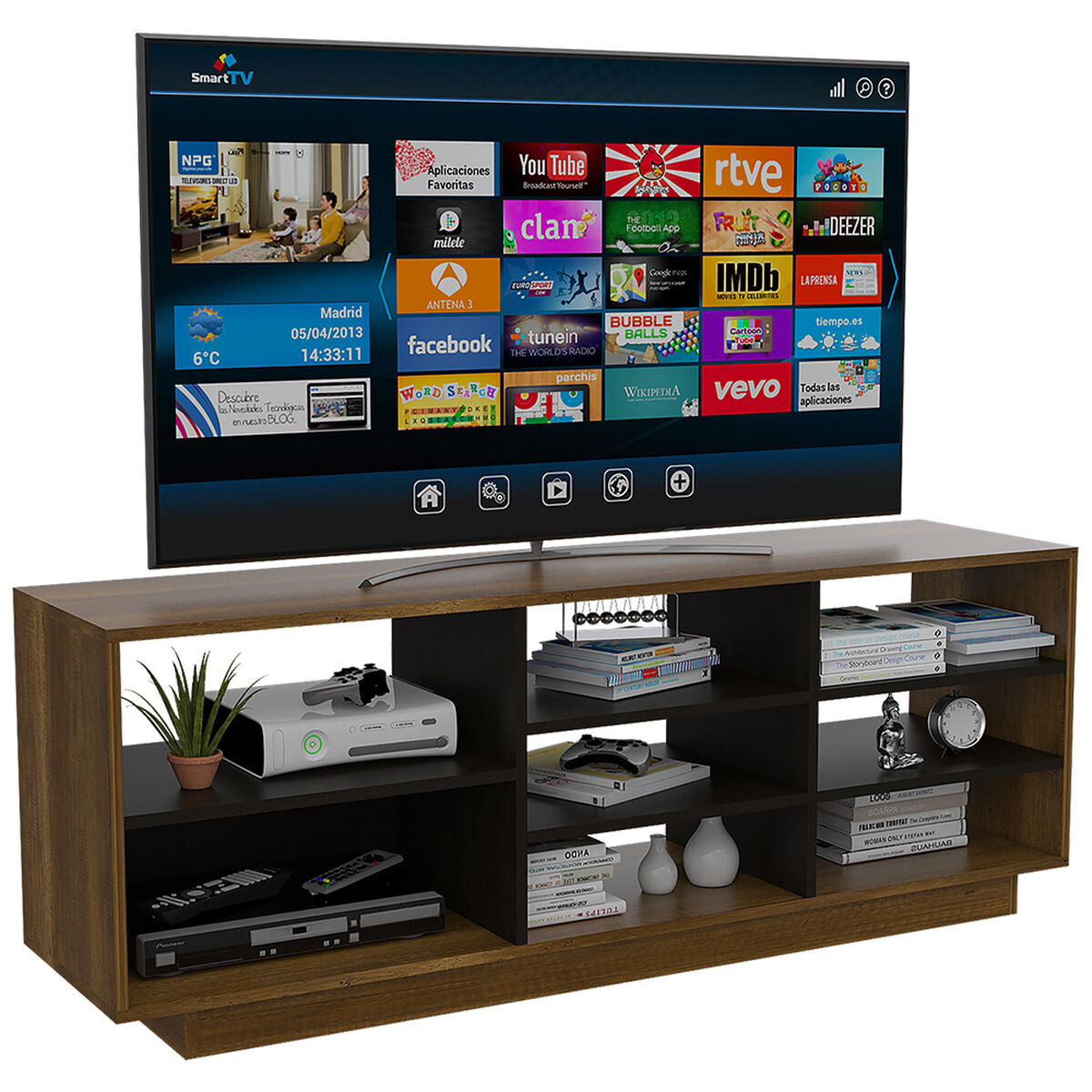 "Rack Tv 58"" + Vitrina Classic Color"