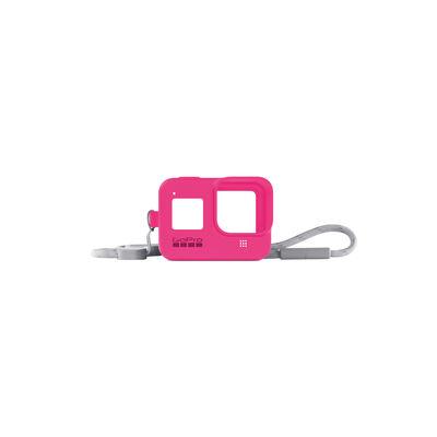 Funda de Silicona + Cordón Rosado para GoPro HERO8
