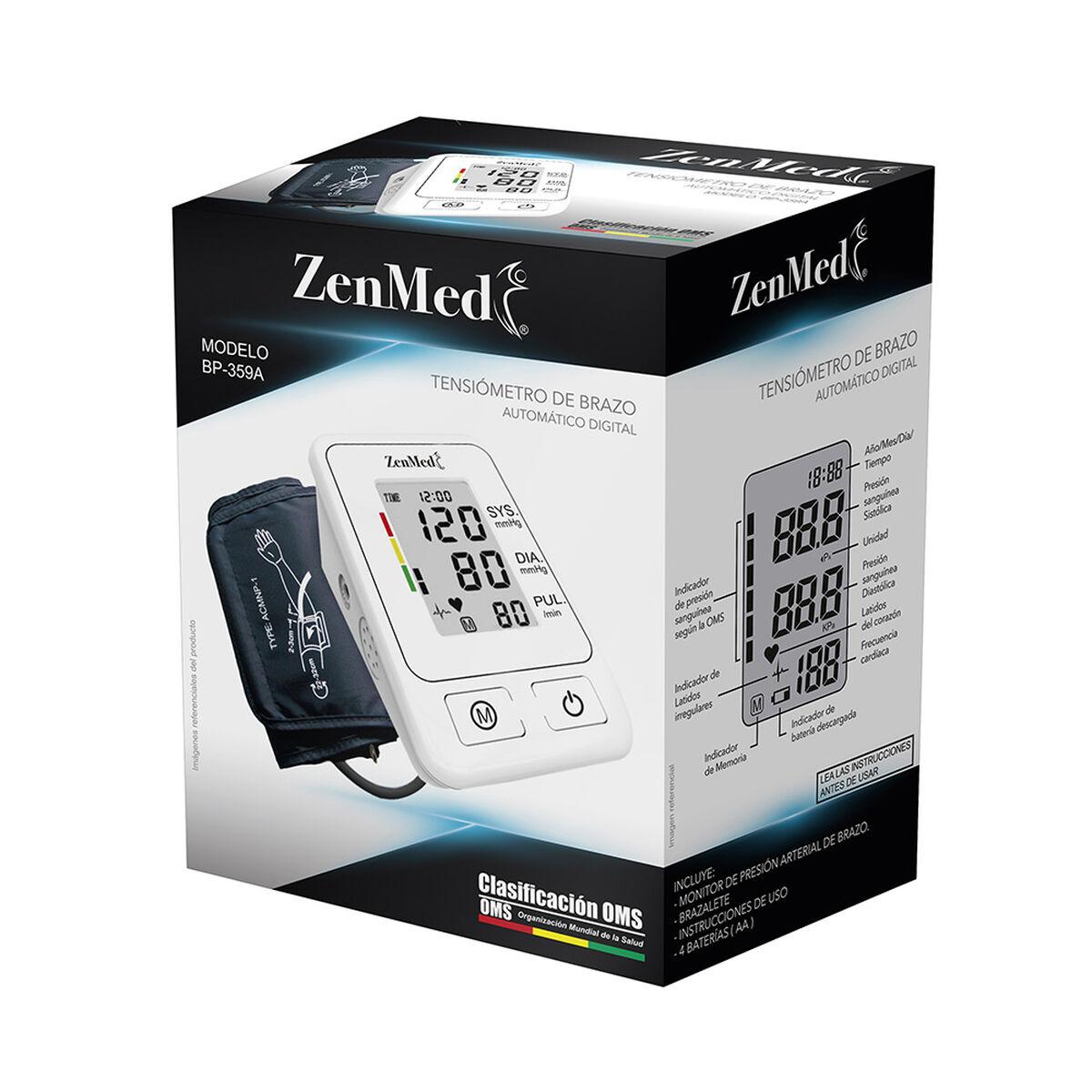"""Tensiómetro de Brazo ZENMED LCD Digital 2,8"""" Blanco"""