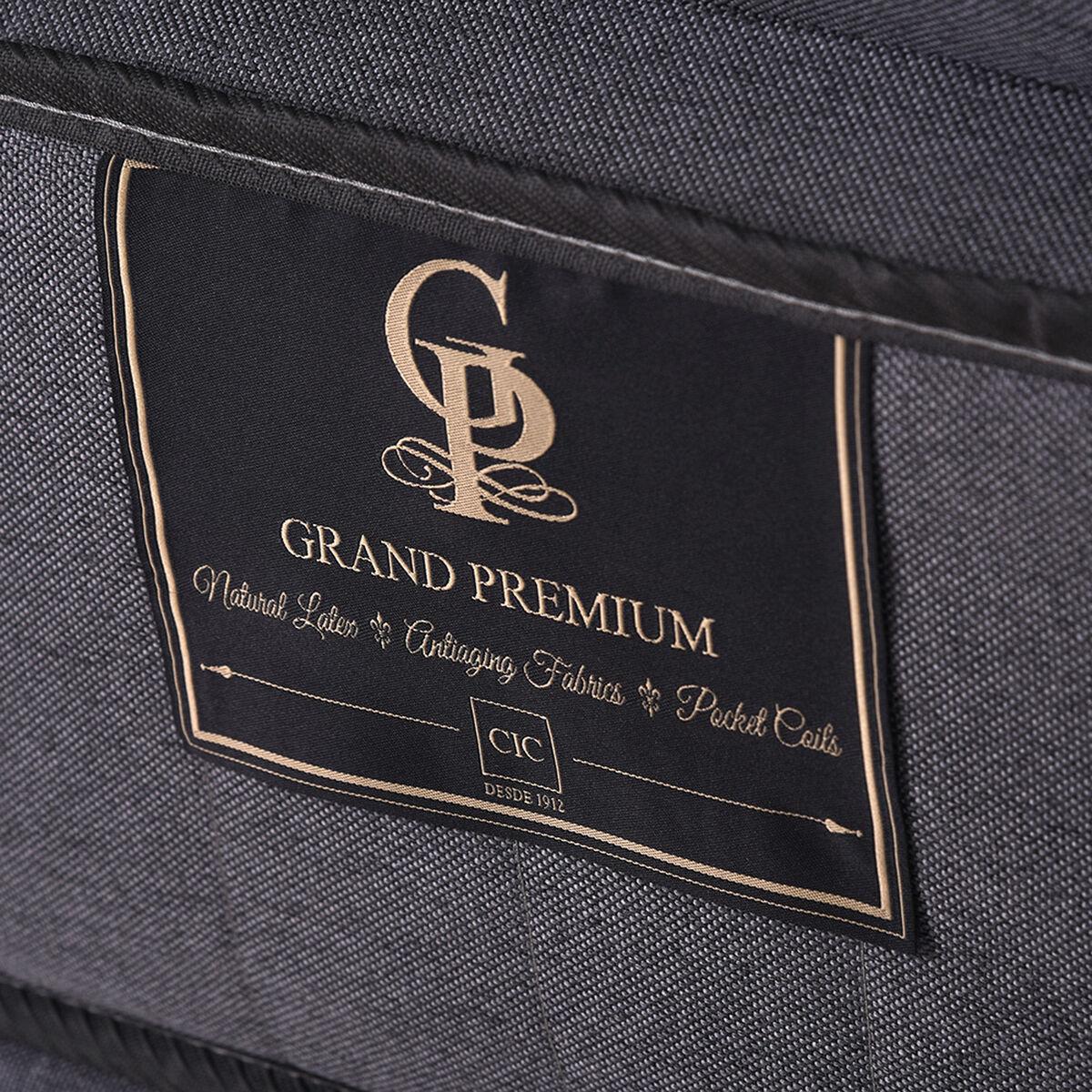Cama Europea CIC Base Dividida King Grand Premium + Respaldo + 2 Veladores Tamesis