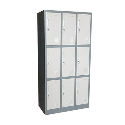 Locker 9 Puertas 3 Cuerpos Muebles Santiago Lk-333