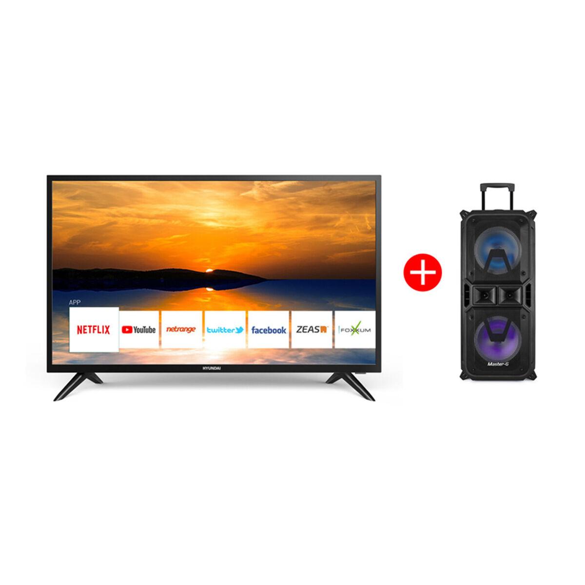 "Combo LED 32"" Hyundai HY32HS20 Smart TV HD + Parlante Bluetooth Portátil Master-G MGCobra"