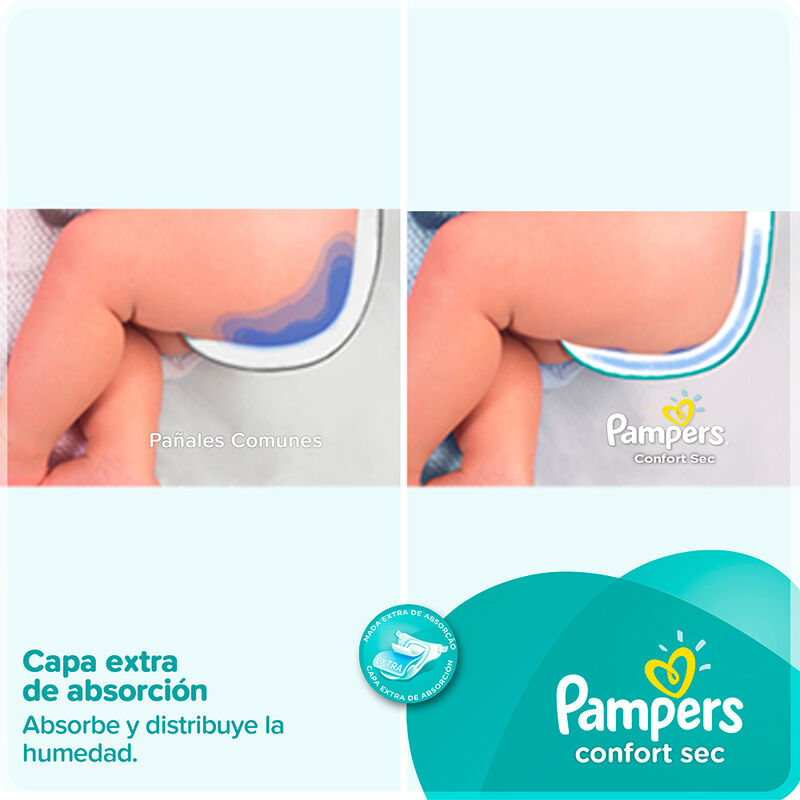Pañales PAMPERS Confort Sec talla G 24 unids