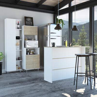 Combo Alacena + Barra Auxiliar + Optimizador TuHome Kitchen
