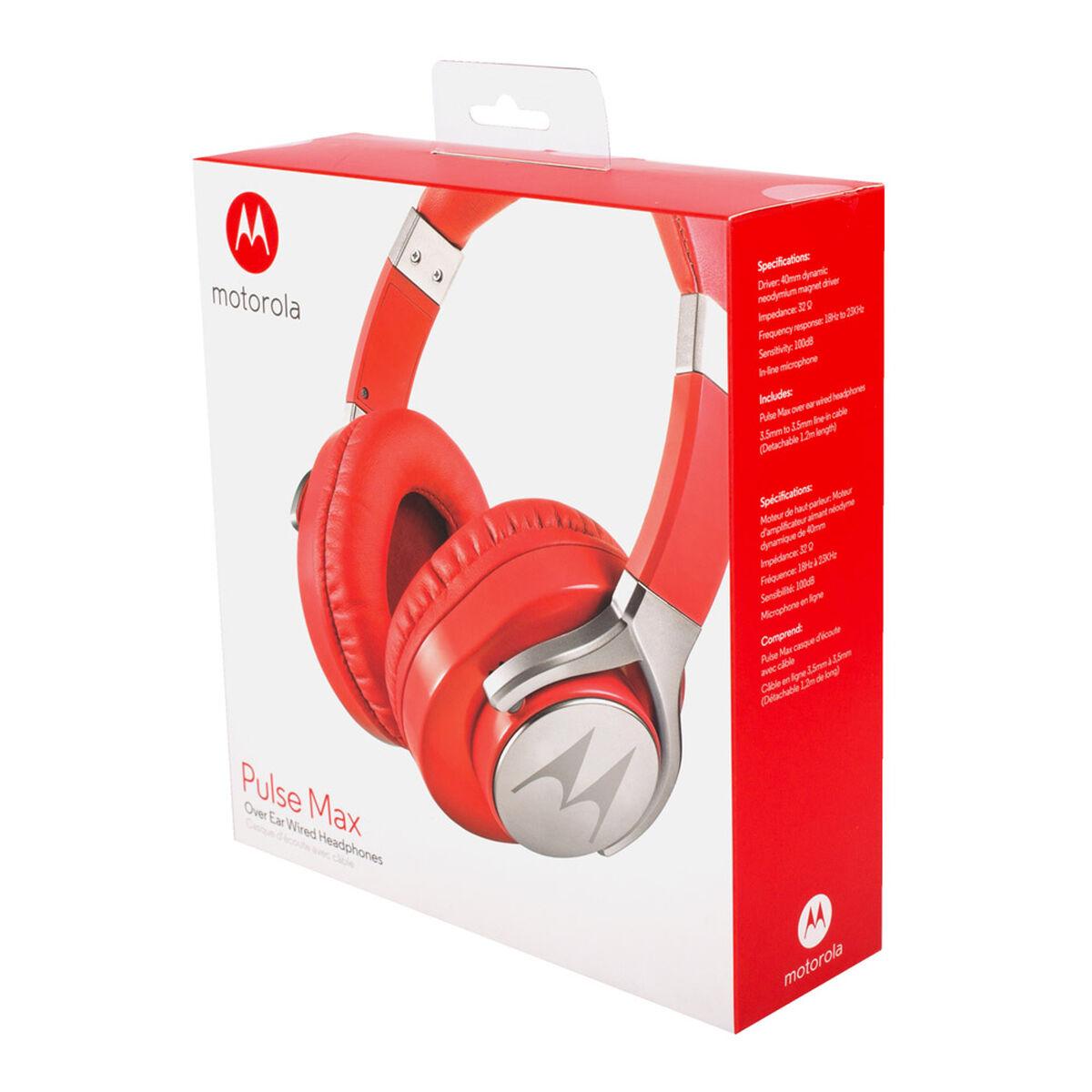 Audífonos Motorola Pulse Max Over Rojos